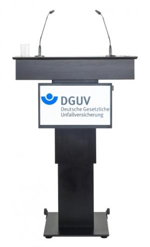 Rednerpult mit Monitor ZÜRICH Frontal