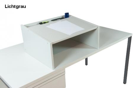 Tischaufsatzpult DRESDEN Lichtgrau
