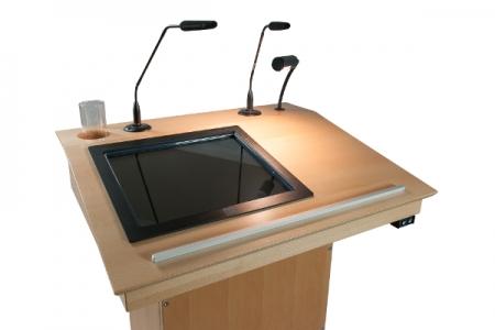 Touchscreen Rednerpult Seitlich