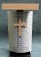 Rednerpult REGENSBURG Vorderansicht mit Kreuz